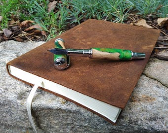 The Green Burl Fountain Pen