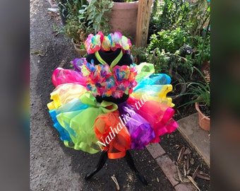 Ready to ship Hawaiian Tutu Set....Perfect for Luau Party, birthdays, Halloween and photo sessions!