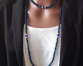"Necklace ""the elegant blue"""