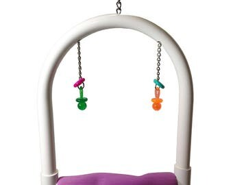 FeatherSmart Parrot Bird PVC Swings-Medium
