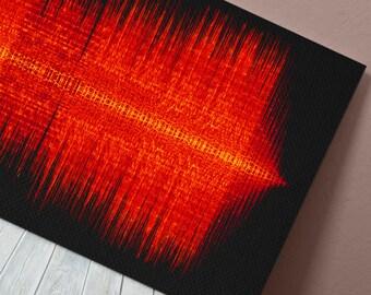 Aloe Blacc - The Man - 24x8 Canvas, Poster or Digital Image - Free P&P, Sound Wave Art, Audio Art