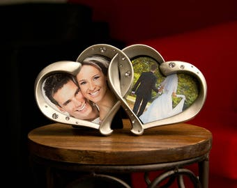 A Double Heart Photo Frame Made For Two