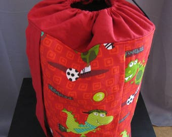 Kids storage basket, backpack, weekend bag