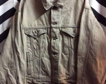 Marlboro Faded Denim Jacket W/marlboro Man On Back