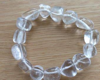 15% off Natural quartz beaded bracelet