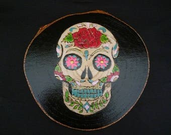 Day Of The Day Skull Coasters.