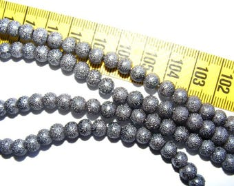 Pearly 6mm Dark Gray x 25 speckled rounds