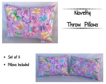 Throw Pillow Girl ~ Butterfly Throw Pillow ~ Kids Accent Pillow ~ Nursery Decor ~ Decorative Pillow ~ 12 x 16 Pillow ~ Girls Room Ideas