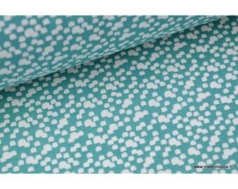 Fabric 100% cotton green duck color x50cm Shelley