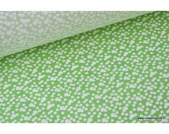 Tissu 100%coton vert et blanc .x1m