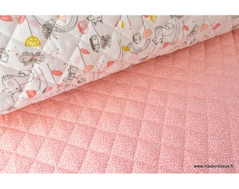 Cotton quilted double sided theme my village x50cm