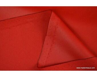 Waterproof fabric waterproof red acrylic coated polyester.