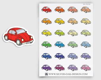 Car Stickers for Erin Condren, Happy Planner, Filofax, planner sticker, car repair, mileage tracker, travel, car maintenance (ITM-022)