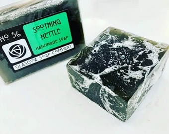 Nettle Soap for Eczema and Psoriasis - Fragrance Free - No Added Colour - Sensitive Skin - Vegan - SLS Free - Paraben Free - Allergies
