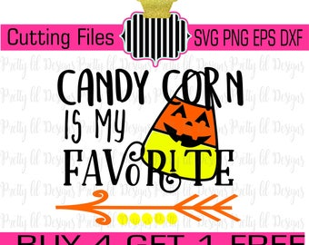 Buy 4 Get 1 Free** Candy Corn is my favorite girl boy halloween SVG , Png dxf, & eps Cutting Files orange yellow