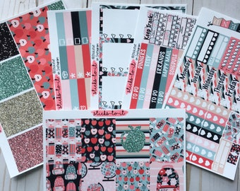 Little Ms School Girl ECLP Happy Planner Inkwell Press Weekly Kit Stickers Check Lists Daily Boxes elementary middle school