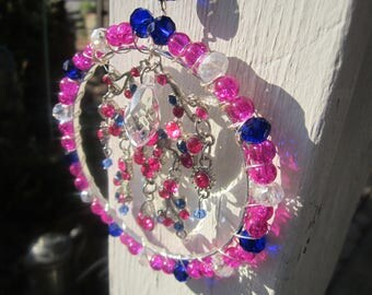 Pink Abstract Sun Catcher- #0053