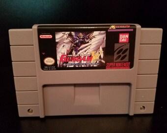 Mobile Suit Gundam Wing Endless Duel Custom English Super Nintendo SNES