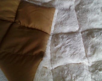 Faux Fur weighted lap blanket