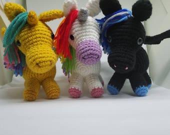 In Stock! Crochet Amigurumi Unicorn - Pegasus - Alicorn