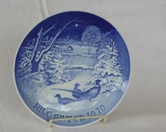 Vintage Porcelain Bing & Grondahl 1970 Christmas Plate