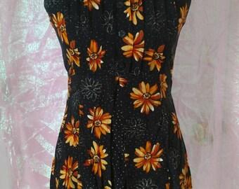 Black Sundress - Size 6 - Fashion Bug - Vintage Clothing