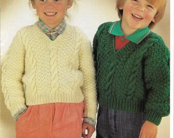Childrens Sweaters Knitting Pattern.