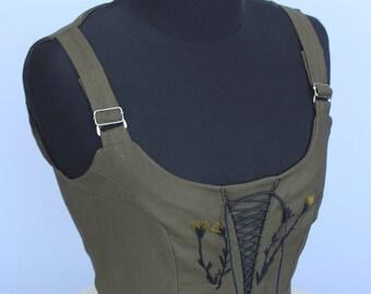 Women's vest, steampunk vest, Dirndl mieder, Rustic vest, Folk Waistcoat, Folk Vest, Bavaria vest Medieval clothing oktoberfest clothing