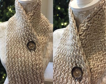 Brown and Cream Scarf