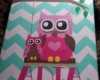 Momma owl baby owl