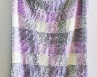 Six Color Gingham Crochet Blanket