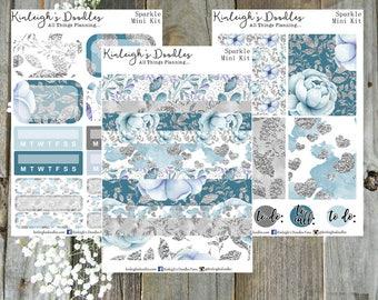 Sparkle // Personal Size Mini Kit TN Travelers Notebook Sticker Kit Erin Condren Vertical Winter