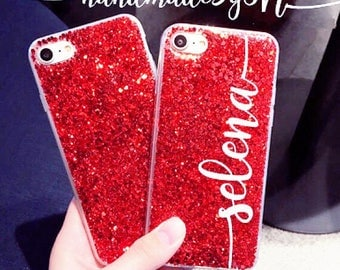 Ruby Glitter iPhone 7 case iPhone 7 Plus case iPhone 6S case iPhone 6S Plus case iPhone 6 case iPhone 6 Plus case iPhone case Phone case