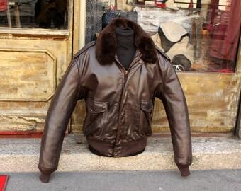 Schott Leather Jacket Original brown 184sm TG L ITA