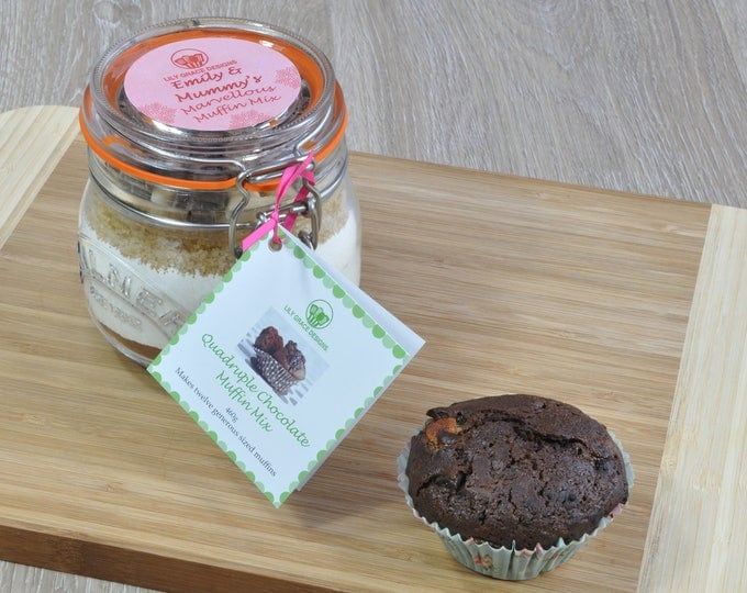 Baking lovers gift, chocolate muffins, personalised baking present, baking kit, sweet treat, cake lover, baker's gift, make your own muffin