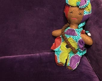 African Doll - African Toys - Rag Doll - Multicultural Doll - Afro Doll - Handmade Toy - Cultural Toys - Gift For Children - Stocking Filler