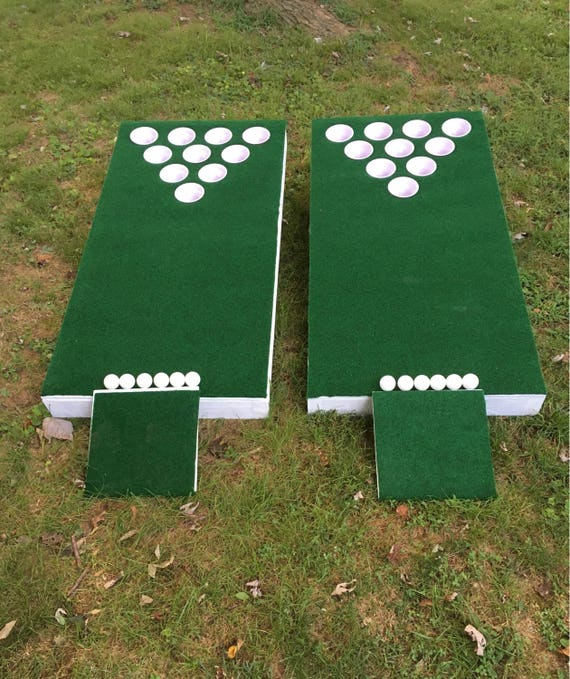 Beer Pong Golf Hole Cornhole Chipping Golf Boards Lawn Game
