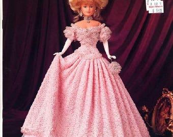 385. Barbie fashion doll dress-crochet pattern in pdf