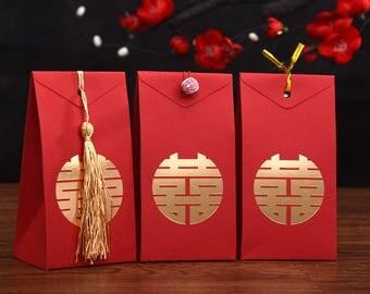 100 x Wedding favor box - Double Happiness - Chinese Wedding - S
