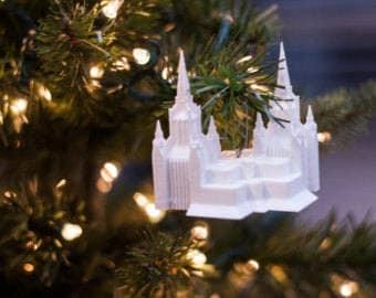 San Diego, CA LDS Temple Christmas Ornament