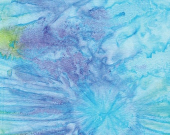 Aqua Burst Batik from Benartex - Bali Gelato cotton fabric 7505-04 blue