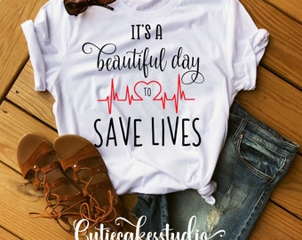 grey's anatomy shirt It's a beautiful day to save lives shirt tv show
