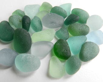 Rich Teal and Aqua Sea Glass Pieces