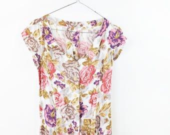 Vintage 90s dress, romantic dress, small size dress, handmade dress, vintage maxi dress, long dress, summer light dress, viscose dress