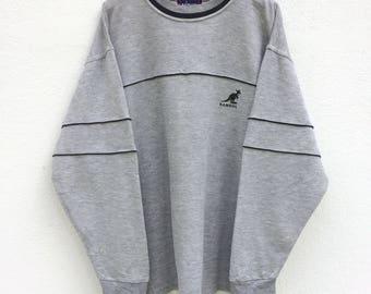 Vintage Kangol Sweatshirt/ Grey Colour / Kangol Sport / Kangol T Shirt / Kangol Jacket / Casual Mod