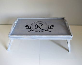 bed tray with legs etsy. Black Bedroom Furniture Sets. Home Design Ideas