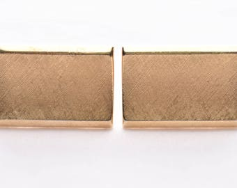 Vintage Swank Square Cufflinks Textured Metal Gold Tone Signed Retro Men's Formal Wear Suit Shirt Accessories Gift MGT3