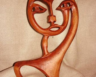 French Horn,  Wooden French Horn ,  French Horn carving wall,  Wood carving French Horn,  Handmade French Horn, French Horn mask