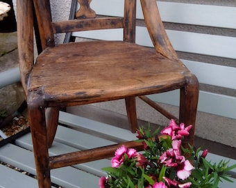 Vintage antique Wooden child's chair/apprentice piece bedroom furniture baby