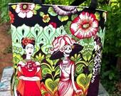 Frida Kahlo, Calevaras, Sugar Skull, Mexican Heritage Purse, Tote Bag